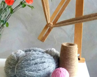 Large Yarn Swift with STEEL BALL BEARING, Portable Wooden Skein Winder Or Yarn Winder - Handcrafted From Solid Birch. Model - MILL1.