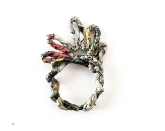 Paper ring, book ring, paper jewelry, recycled jewelry, eco ring, paper gift for her, quirky ring, funky ring, statement ring, unusual ring