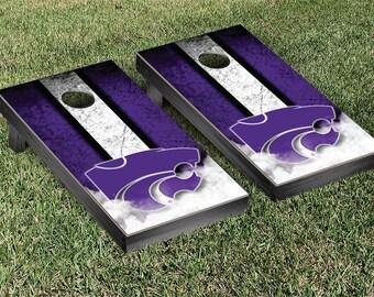 Kansas State Wildcats Regulation Cornhole Game Set Stripe Designs