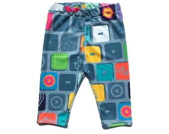 Techie Leggings / Pants - Nerdy Baby Leggings - Nerdy Kids Leggings - Nerdy Toddler Leggings