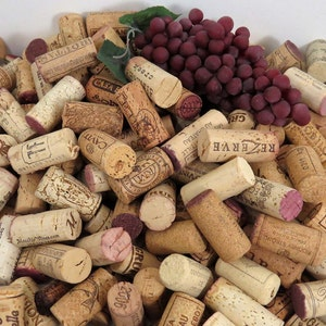 50 Used Wine Corks, All Natural, Excellent Variety, No Champagne or Synthetics, Fast Shipping