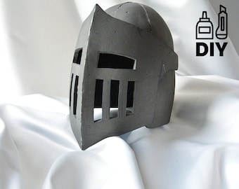 DIY Knight Helmet Template for EVA foam - version B