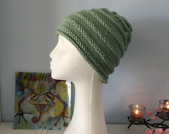 Ladies hand knitted beanie