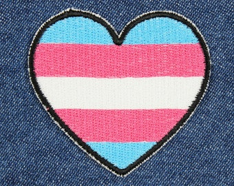"Trans Patch – 2.25"" x 2"" Trans Pride Patch – Transgender Patch – Trans Flag Patch – Transgender Pride Patch – LGBT Patch – Queer Pride Patch"