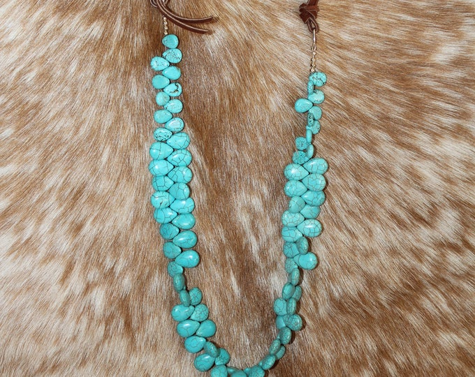 Turquoise Tear drop shaped stones