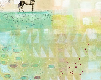 Abstract Horse Print - Printable Artwork , Instant Download Feminine Wall Art , Makes Great Teenager Room Decor and Horse Lover Gift