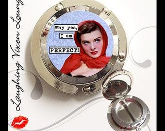 Purse Hanger - Purse Hook - Diaper Bag Holder - Purse Mirror - Bag Mirror - Purse Holder - Travel Mirror - SVL Perfect