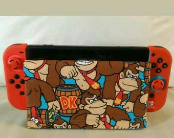 1 Nintendo switch dock sock covers screen protector  donkey kong nes DK