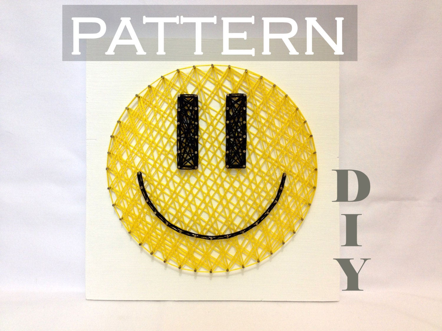 DIY String Art Pattern Smiley Pattern and Instructions