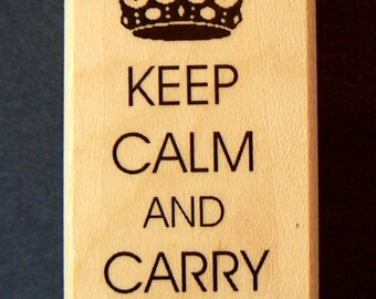 P5 Keep calm and carry on-rubber stamp