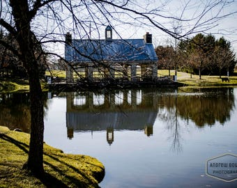 Lake Pavilion behind Trees