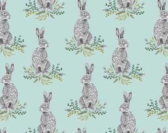 Crib Sheet Set Bunny Rabbit - Fitted Crib Sheets / Baby Bedding /Mint Crib Bedding /Baby Girl Bedding /Spring Baby Bedding /Bunny Bedding