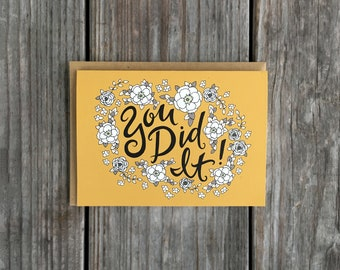 Floral Graduation Card, High School Graduation Cards, College Grad Card