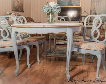 French dining table etsy french provincial dining set workwithnaturefo
