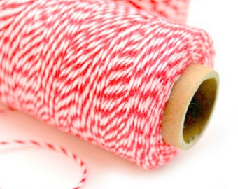 Red & White Baker's Twine / 15 Yards