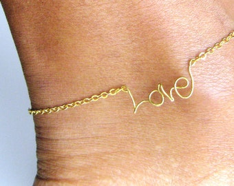 Personalized Name Anklet, name rings, boho gift for wife, gift-for-mom,  daughter, boho jewelry, sister boho gift, bridesmaids