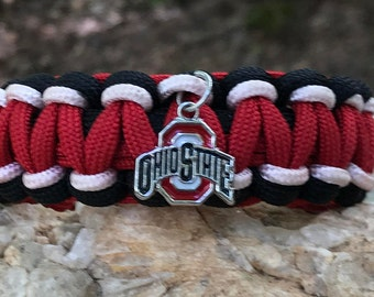 Ohio State University Buckeyes Paracord Bracelet