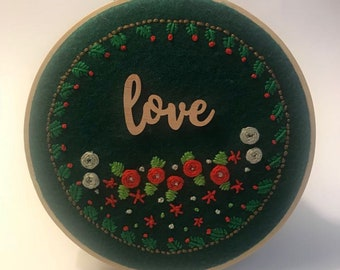 Embroidery hoop, Hand embroidery, Handcraft embroidery, Love, Embroidery flowers