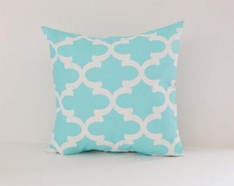 Blue Pillow Cover Decorative Pillows Throw Pillows Sky Blue Pillow Moroccan Pillow 12x16 18x18 20x20