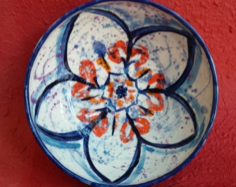 Handpainted Floral Designed Porcelain Bowl