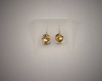 BO-95C, Earrings in oxidized sterling silver.