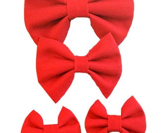 Red Bow Collection, Hair Bow, Hair Clip, Headband, Baby, Kids, Toddler, Red