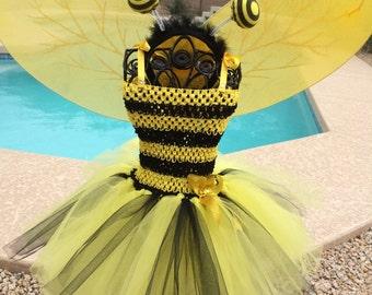 Bumble Bee Inspired tutu dress, Halloween tutu costume
