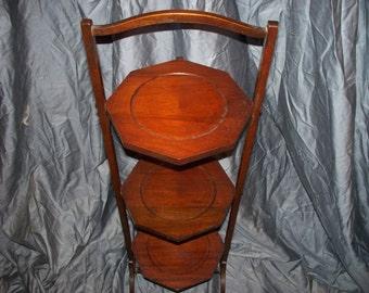 Antique Mahogany Cake Stand