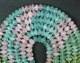 8 inch long strand of  MULTI AQUAMARINE Beads 3 x 6.5 mm approx