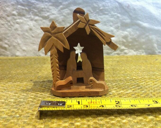 Vintage Wood CRIB Christmas Miniature Dollhouse XMAS Accessoires Decoration