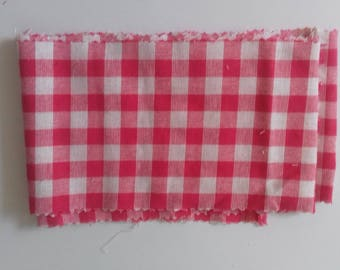 Gingham cotton fabric tape