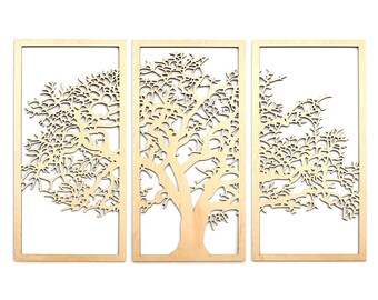 Large Tree of Life Wall Art Vector Model - svg cdr pdf dxf files - Instant Download Files for Laser Cutting Printing CNC Engraving Clipart