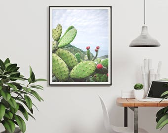 prickly pear, cacti art, cacti wall art, gift for him, cactus wall art, cactus art, art prints, cactus poster, cactus printable, printables