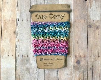Coffee Sleeve, Cup Cozy, Cup Holder, Coffee Cup Cozy, Cup Sleeve, Coffee Cozy, Coffee Cup Sleeve, Reusable Coffee Sleeve, Crochet Cup Cozy