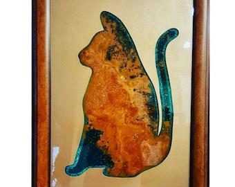 Art - Artwork - Home Decor - Decor - Kool Kitty Ocean Wood Art