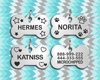 Dog Tag For Dogs, Dog Tag Personalized, Dog Collar Tag, Dog Tag, Bone Dog Tag, Pet Tag, Dog Id Tag, Personalized Dog Tag, Custom Dog Tag