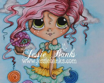 INSTANT DOWNLOAD Digital Digi Stamps Big Eye Big Head Dolls NEW Sweet Treats Besties Img632 My Besties By Sherri Baldy