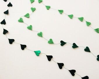 Miniature Confetti Hearts Felt Garland