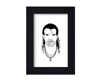 4 x 6 Framed Razor Ramon / Scott Hall WWF Portrait