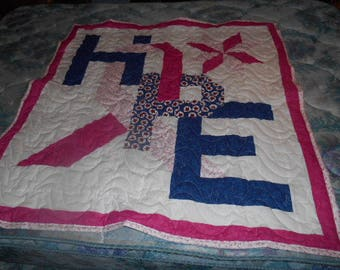 Breast Cancer Awarness Hope quilt