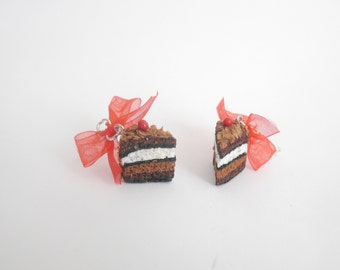 Earrings Black Forest cake