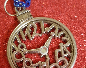 Clock/Pocket Watch Pendant and Chain. Necklace Stocking Filler