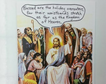 Unusual Holiday Card for Sacriligious Folks