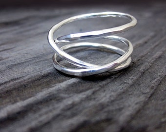 Sterling Rollercoaster Ring by donnaodesigns