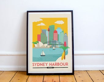 Sydney Harbour Digital Poster | Digital Download | Travel Poster