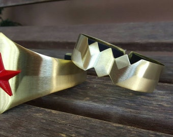 Brass Etched Wonder Woman Arm Band