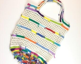 CROCHET PATTERN - BOHO Market Bag - Beach Bag - Farmers Market Bag - Instant Download Pattern # 522