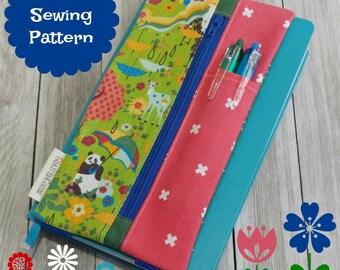 Journal Sleeve PDF Sewing Pattern {CUSTOM fit!} - notebook sleeve, DIY bullet journal cover, planner supplies, bujo accessories