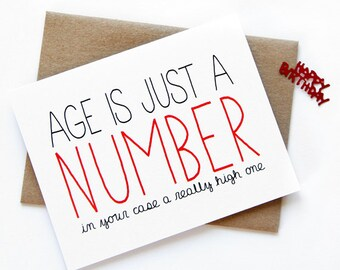 Old age sex birthday card