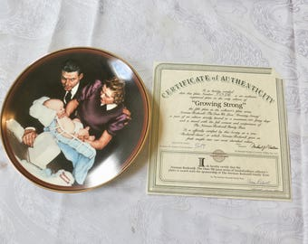 Norman Rockwell plate, Growing Strong,  Collector's plate, Certificate of Authenticity, Limited edition #8402B, 218/9